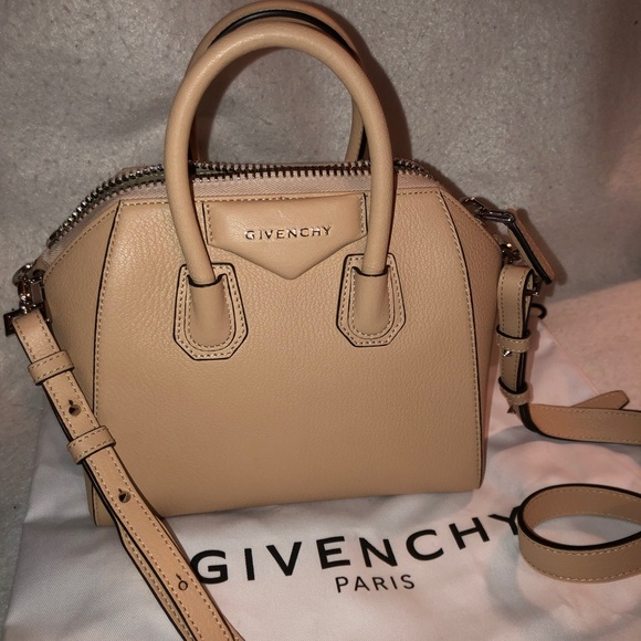 "e0c380365f NWT Givenchy Mini Antigona Bag in ""Powder"" Beige"